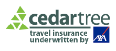 Cedar Tree Travel Insurance - Coronavirus Cover