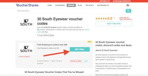 30 South Eyewear voucher code