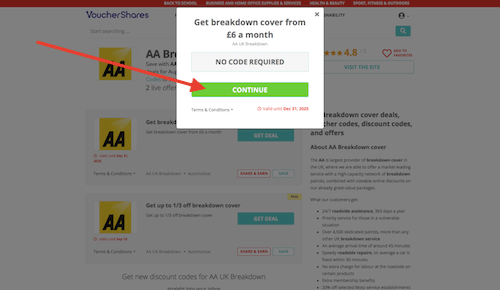 AA UK Breakdown discount code