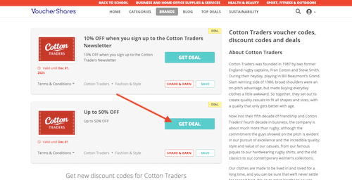 Cotton Traders voucher code