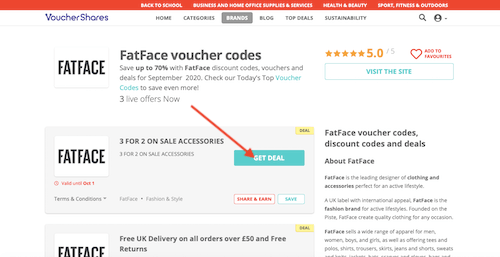 FatFace promotion code