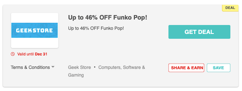 Funko Pop deal from Geek Store