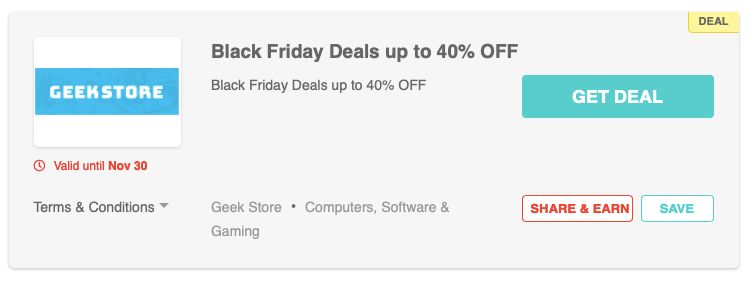 Geek Store Black Friday deals