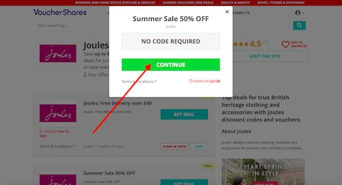 Get Joules Discount Code or Deal
