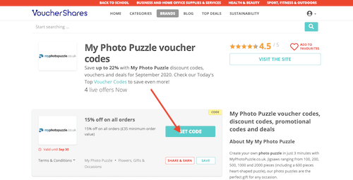 My Photo Puzzle voucher code