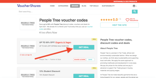 People Tree voucher code