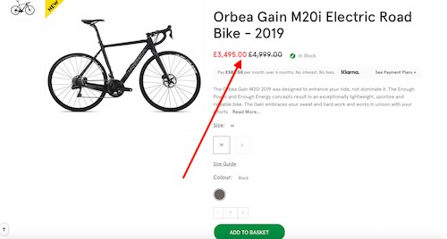 Pure Electric Road Bike Deal