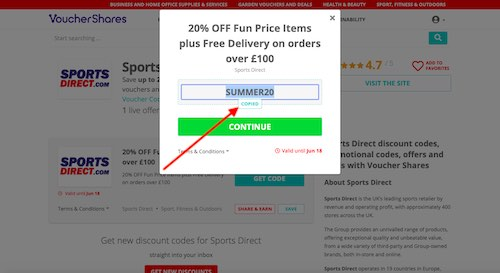 Save Sports Direct discount code