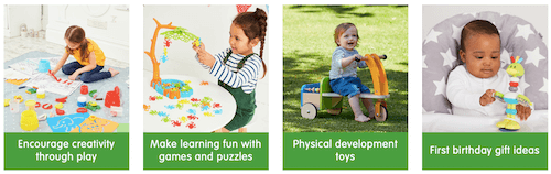 The Early Learning Centre choice of toys