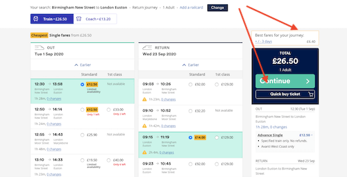 Trainline best deals