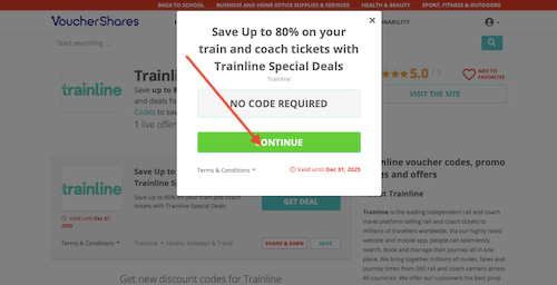 Trainline voucher